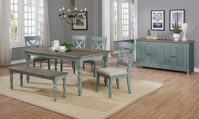 1854 Farmhouse Dining Weathered Finish Tops With Robins