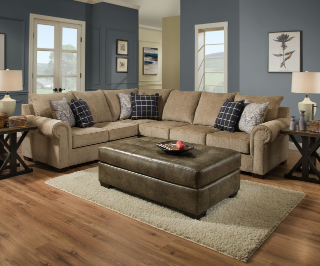 7592 beautyrest 2 piece sectional in gavin mushroom - Simmons living room furniture sets ...
