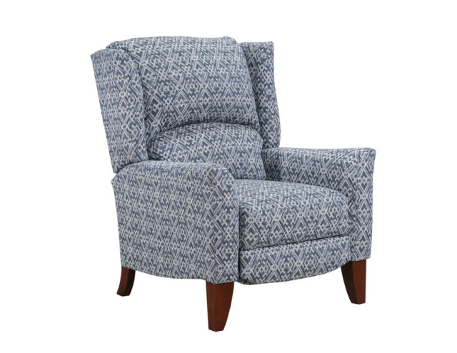 Enjoyable 6004 High Leg Push Back Recliner In Delft And Dove Alphanode Cool Chair Designs And Ideas Alphanodeonline