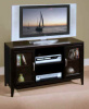 East Shore TV Console - Fully Assembled! Black Cherry
