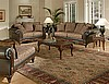7685 Sofa, Loveseat and Chaise in Silas Raisin