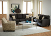 328 Sofa and Love in Booyah Pepper, Accent Chair available in Teahouse