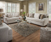 6547 Beautyrest Sofa and Love with Silver Nailhead Trim in Grenada Natural - Accent Chaise Available