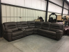 083 Power Motion Sectional - 3 Power Recliners, 4 USB, 2 Power Ports in Console