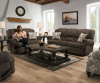57000 Lane Nailhead Motion Sofa and Motion Love in Rosie Mocha Chenille - 6511 Accent Hgh Leg Recliner Available