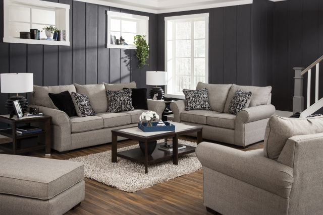 4152 Maddox Fossil Sofa and Love
