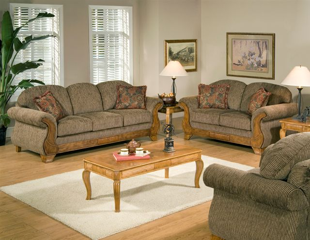 7400 Sofa and Loveseat inTorrey, Chair and tables available