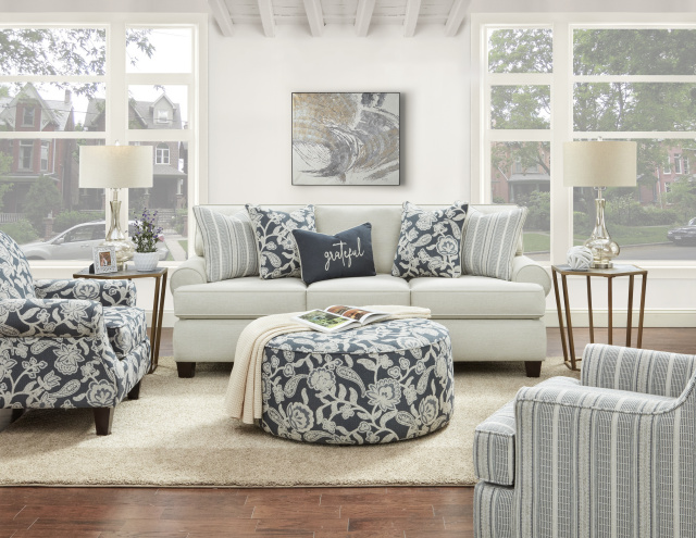 3900 Awesome Oatmeal Sofa and Love - 532 Indigo Chair Available