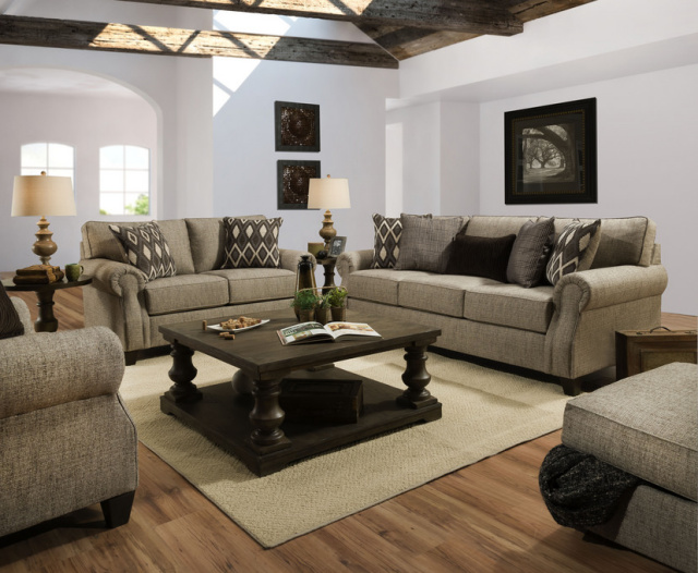 8010 Beautyrest Sofa and Love in O'Connor Clove - Club Chair available