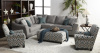 1015 2 piece Sectional in Quartz, Accent Chair and Ottoman Available