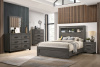 8321 Gray Bookcase Bedroom - Queen and King Complete with Extra Nightstands Available