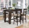 8642 BAR Height Table with Power Ports an USB, 4 Swivel Bar Stools