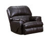 14010 LEATHER Touch Recliner in Soft Touch Bark