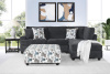 2240  2 Pc Sectional with Chaise in Anchor Surge - Large Swivel Chair and Ottoman Available