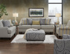 2310 Chalet Platinum Sofa and Love - 502 Striped Accent Chair
