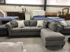 2350 Sectional with Silver Nailhead Trim in Carbon (Gray) - Accent Ottoman Available