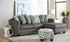 7810 Sofa with Reversible Chaise in Booyah Silver