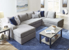 8011 U Shaped Sectional in Oasis Flagstone