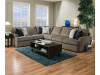 8540 Beautyrest 2 Piece Sectional in Grandstand Flannel or Walnut - HUGE!