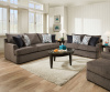 8540 Beautyrest Sofa and Love in Grandstand Flannel - 98'Sofa with filippable cushions