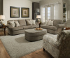 9255 Beautyrest Sofa, Chair 1/2 and Ottoman in Grandstand Fawn