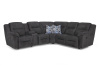 371 Motion Sectional - 2 Recliners, 1 Console - Navy Blue