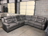 8000 Power Motion Sectional - 3 Power Seats With USB, Gray with Darker Gray Accents