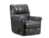 4208 Leather Touch Rocker Recliner in Soft Touch Gray